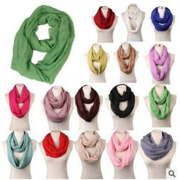 Wholesale Infinity Scarf Solid - Scarves Women Top quality Solid Circle Loop Warm Wraps Women Infinity Scarf Girls Plain Snood For Ladies Shawl Free Shipping 16 Colors