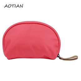 Wholesale Stylish Cosmetic Bags - Wholesale- Hot Sale Stylish Tourist Girl Cosmetic Beauty Grooming Bag High Quality Waterproof Women Clutch Cosmetic Bags Dec14