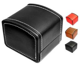Canada Boîtes de montre de luxe avec Oreiller PU boîtes de montre en cuir Mens Pour Watch Box Femme Hommes Montres Boîtes Pour Bangle Bague Boucles d'oreilles Offre