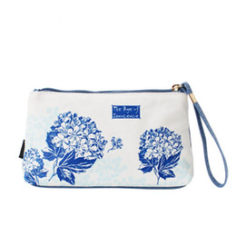 Wholesale Age Shop - The Age Of Innocence Printed Original Hand Painted Style Canvas Women's Clutch Bag Hand Bag Female Daily Casual Shopping Beach Bag