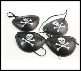 Wholesale pirate eye patches - Skull pirate eye patch Plastic monocular pirate eye patch COS and performance show Holiday decoration 4 styles Fancy dress eye mask