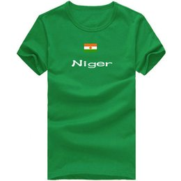 Wholesale Martial Arts T Shirts - Niger T shirt Junior sport short sleeve Martial arts tees Nation flag clothing Unisex cotton Tshirt