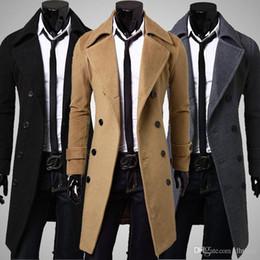 Cappotto lungo in lana da uomo Cappotto lungo in lana da uomo Cappotto  reversibile a doppio 025935b4ad3