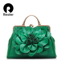 Wholesale Vintage Rose Flower Frame - 2016 Fashion Women Frame Bag With Rose Flower PU Leather Ladies Tote Bag Female Handbag Vintage Women Shoulder Bag