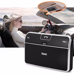 Wholesale Tablet Car Kits - New Universal Phone Speaker Bluetooth 4.0 Car Kit Transmitter Bluetooth Receiver Speakerphone Handsfree Bluetooth Adapter For Phone Tablet