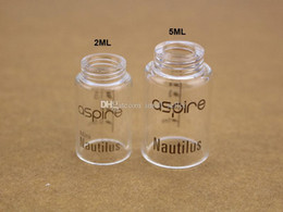Wholesale Wholesale Glass Bells - Pyrex Glass Tube Replacement Replacable Clear Bell Cap for Glassomizer Vaporizer Aspire Nautilus 5ml atomizer Nautilus Mini 2ml Clearomizer