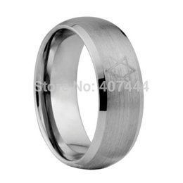 Wholesale Rings Canada - Free Shipping USA UK Canada Russia Brazil Supernova Sale 8MM Men's Comfort Fit Star of David Silver Matte Tungsten Wedding Rings q170717