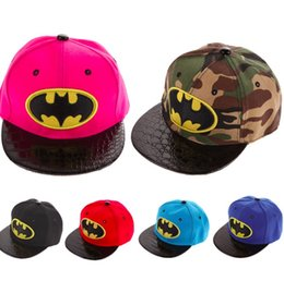 Wholesale Boys Batman Baseball Cap - Spring, Autumn, Winter Kids Hip-Hop SnapBack Batman Baseball Cap Children Sports Cotton Hats Suit for Boy and Girl