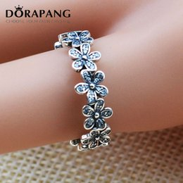 Wholesale Wedding Present Diy - DORAPANG 925 Sterling Silver Compatible With Jewelry Ring Daisy Silver Rings With Cubic Zircon Jewelry Wholesale DIY Birthday Present JZ005