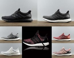 Wholesale Running Shoes Size 47 - HOT UltraBoost 3.0 Triple Black white Men's Women's Running Sport Shoes Ultra Boost 3.0 shoes breathable sneaker Size eur 36-47