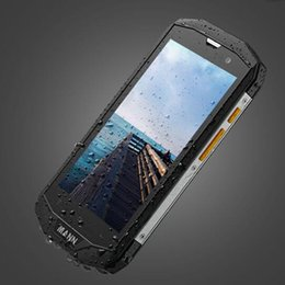Wholesale Dual Sim Shockproof - 100% New Mann 5s Smartphone Waterproof Shockproof Mobilephone QuadCore Cellphone 1GBRAM 8GBROM Rugged Smartphone Sealed Box Phone Hot Sale