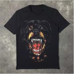 Wholesale New Shirt Fashion For Men - New Fashion Rottweiler dog print High quality O-neck Black tee t shirts for men women cotton free shipping