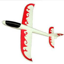 Wholesale Toy Aircraft Models - 2017 new Foam hand throwing aircraft model aircraft model glider toy plane size 48*46cm free shipping