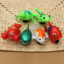 Wholesale Kids Animal Toys Move - Wholesale- Cute Funny Baby Kids Bath Animals Winding Chain Toys Wind Up Moving Swimming Fish Turtle Baby Kid Bath Toy For Baby Kids
