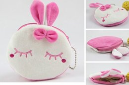 Wholesale Metoo Rabbit Coin Purses - Wholesale- Sweet 10CM Mini Metoo Rabbit Plush Coin Purse & Wallet Pouch Case BAG ; Keychain Pendant Makeup Storage BAG Holder Pouch Handbag