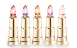 Wholesale Jelly Lipstick - NEW Brand YOLENDO Jelly Flower Matte Lipstick Temperature Change Magic Color Crystal Waterproof Long Lasting Lip Blam Makeup
