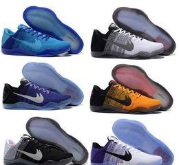 Wholesale Cheap Brown High Heels - High quality New Cheap Kobe XI 11 mens Low bhm Achilles Heel Mens Basketball Shoes Kobe 11 Elite Sneakers
