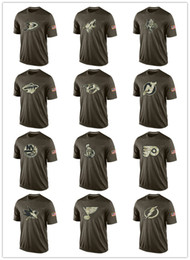 Maglie a maglia poco costosa online-Fashion 2017 NHL Salute To Service Collection Magliette Maglieria da baseball economici T-shirt Loghi Big Tall Banner Good Quanlity Camouflage