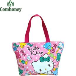 efe435c3f4b8 Women s Hello Kitty Handbag Girls Canvas Cute Cartoon Leopard Messenger  Hand Bag Women Shoulder Travel Bags with Big Capacity