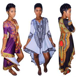 Wholesale Dress For Big Size Women - African clothes for women o-neck africa bazin dress Dashiki women dress 2017 african print Outwear Office Bazin Riche Party dress big size