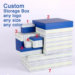 Wholesale Customizable Jewelry - Customizable gift wrap paper Festive party packaging paper new fashion Jewelry boxes stripe design Storage Box free shipping