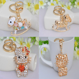 Wholesale Cherry Rings - Hot Sale 3D Keychain Key Rings Elephant Owl Swan Cherry Key Red Lips Handbag Decoration Keychains C138Q