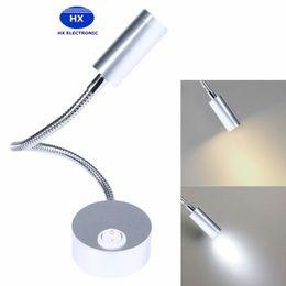 Wholesale Hotel Bedside Lamps - 1W 3W LED Hoses Wall Lamp Flexible Home Hotel Bedside Reading Light AC 85 - 240V Modern Fashion Book Lights Aluminum LED Bulbs