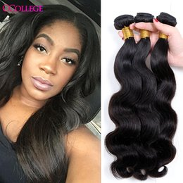 Wholesale Natural Body Products - 8A Unprocessed Brazilian Pervian Malaysian Indian Mongolian Virgin Hair Body Wave 4 Bundles Human Hair Weave Bundles CCollege Hair Products