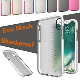 Wholesale Note Shock Proof Case - EVO Mesh Sport Case Soft TPU Drop Protective Silicone Pouch Colorful Shock Proof Bumper Cover For iPhone X 8 7 Plus 6 6S Samsung Note 8 S8