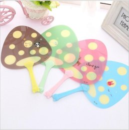 Wholesale Small Cartoon Fans - Wholesale- 1pcs small Gift Party Decoration Summer Essential Korean Version Small Fresh Cartoon Fan Creative Mini Hand Fans Plastic Fan
