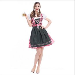 Wholesale Mardi Gras Short Dresses - 2017 New Arrival Traditional Bavarian Beer Dress Oktoberfest Sexy Cosplay Halloween Theme Party Costumes By DHL Hot Selling