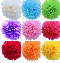 Wholesale White Paper Flowers - Paper garlands Paper flower balls from 4inch to 18inch for choose DIY paper flowers homegarden decorations pine garland free shipping FB002