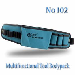 Gebrauchsgurte online-Großhandels-Multifunktionstool Taschen NO: 102 Hardware Mechaniker Elektriker Canvas Werkzeugtasche Gürtel Utility Kit Pouch