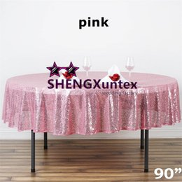 """Wholesale Cheap Tablecloths Round Tables - 90"""" Round Sequin Table Cloth \ Cheap Wedding Tablecloth Wholesale Price"""