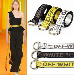 Wholesale Wholesale Buckle Belts - Off-white Belt Unisex Hip Hop Fashion Style Skateboard Army Military Ceinture Kanye West You Cut Me Off White Virgil Abloh Belts