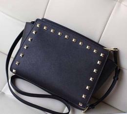 Wholesale Smiley Messenger Handbag - Free shipping 2017 star models with cross pattern PU leather handbags and small rivet smiley bat bag shoulder bag Messenger bag