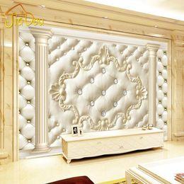 papier tinte kunst Rabatt Großhandels-Europäischen Stil Roman Spalte Soft Pack 3D Stereoskopischen Benutzerdefinierte Wandbild Tapete Wohnzimmer Sofa vlies TV Hintergrund Tapete