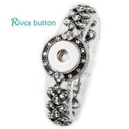 Wholesale Fit Jewelry Design - Wholesale-P00719 Neweset Snap Button Bracelet&Bangles Newest Design Chain Antique Silver Plated Vintage Bracelet FIt Snap Button Jewelry