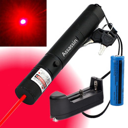 Wholesale Laser Pointer Burning - High Power Burning Red Laser Pointer Pen 10Miles 5wm 650nm Military Powerful Red Laser Cat Toy +18650 Battery+Charger