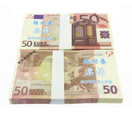 Wholesale Banking Education - EUR Training Money EURO 5 10 20 50 100 200 500 for props and Education bank staff training paper fake money Copy money Childen Gift