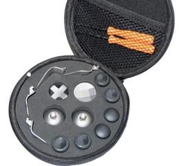 Argentina Al por mayor- 1 juego de reemplazo de metal parachoques botones de gatillo pulgar puños para XBOX One Elite controlador con destornilladores bolsa de almacenamiento cheap xbox thumb grips Suministro