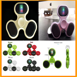 Wholesale Cool Toys For Big Kids - Anti Stress Cool Bluetooth Music Fidget Spinner Bluetooth Speaker EDC Toys Hand Spinner Tri Spinners For Autism and ADHD Kids