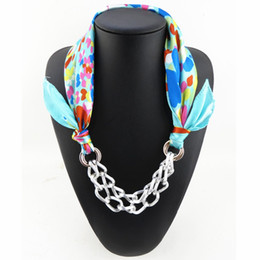 Wholesale Scarf Pendants Chain - Wholesale- Peacesky New Arrival Brand Design Ladies Silk Scarves,Chain Necklaces,Pendant Scarf ,Luxury Designer Jewelry Accessories