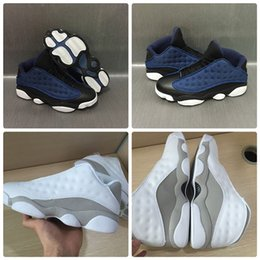Wholesale Purple Platinum - With Box 2017 Mens Basketball Shoes 13 Air Retro Low GS Pure Money White Metallic Silver Platinum Sports Sneakers US8-US13