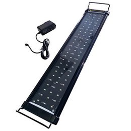 Wholesale Saltwater Led Lights - LED Aquarium Hood Lighting Fish Tank Light for Freshwater and Saltwater, Blue and White Light, 24 to 34 inch, 10W