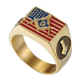 Золотой масонский американский флаг едет Мейсон кольцо от Поставщики американская атлетика