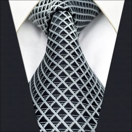 Wholesale Mens Extra Long Neckties - B28 Black Solid Silk Mens Necktie Tie Fashion Wedding Ties for male Novelty extra long size