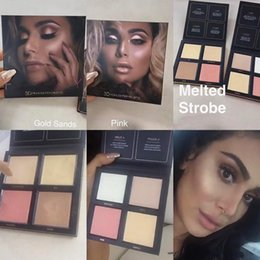 Wholesale Hot Pink Sand - HOT Makeup 3D Highlighters Glow Kit 4 colors highlighters golden sands and pink sands DHL Free shipping+GIFT