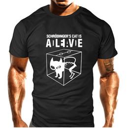 Wholesale Big Bang T Shirts - Top quality cotton Schrodinger's Cat print short sleeve men T shirt casual The Big Bang Theory mens Tshirt 2017 T01