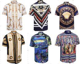 Wholesale Fit Points - 2017 ver Medusa New Fashion Men Long Sleeve T-Shirt Men Wave Point Of Shirt Men's Casual Slim Fit Shirt Luxury Brand Size:M-XXL